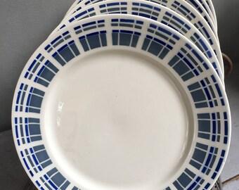 6 Badonviller earthenware dessert plates
