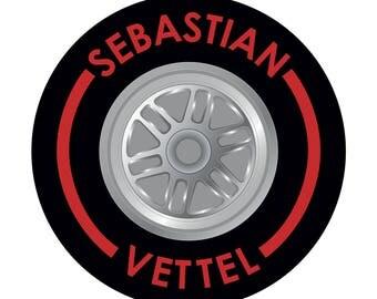 Sebastian Vettel Tyre Sticker