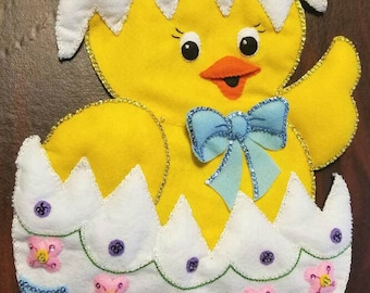 Bucilla finished easter chick wall hanging