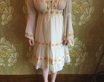 Boho 70's lace dress