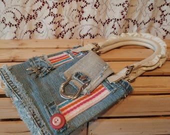Handmade bag, Handmade bag, shoulder strap by hand, Handmade purse
