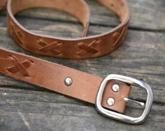 Vintage Leather 1980s  Belt
