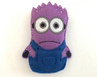 Purple Minion inspired Catnip Toy