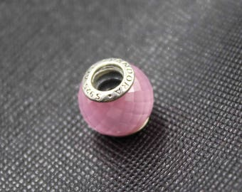 New Authentic Pandora Charm Bead Petite Facets Pink 791499PCZ