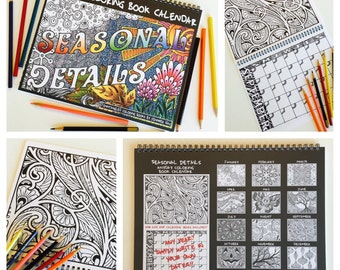 Seasonal Details Anyday Coloring Book Calendar
