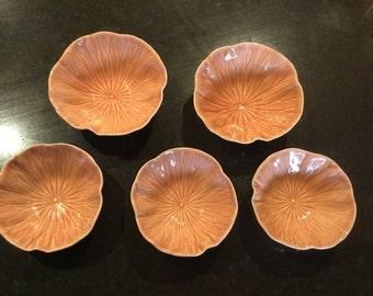 Vintage Poppy Trail Lotus Bowls, 5 each