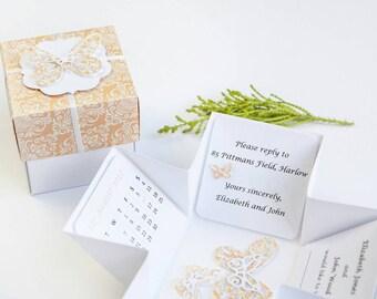 Butterfly Wedding Invitation - Pop Up Wedding Invitation - Unique Wedding Invitations - Butterfly Wedding - Wedding Invitations UK