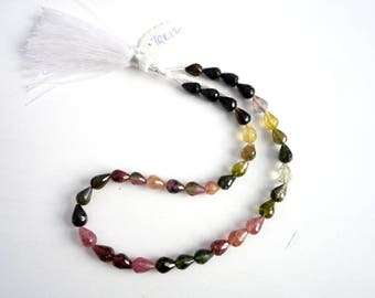 Tourmaline Faceted Drops TRK12