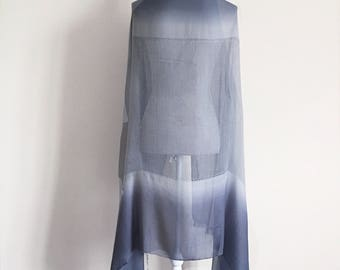Grey Silk Shawl - silk sarong, silk pashmina, bridesmaid accessories, silk scarf, grey silk shawl, beach wedding, bridal pashmina, gift her