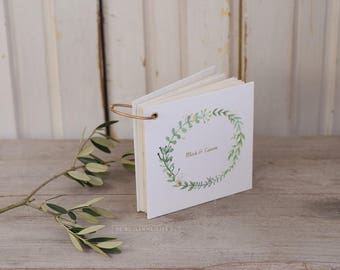 Guest book with marriage advice cards - guest book cards - botanical wedding - alternative guestbook