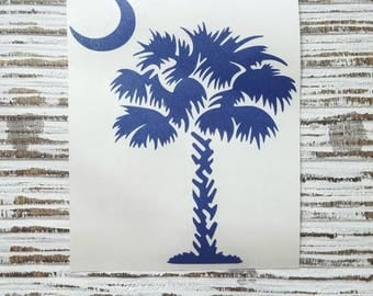 South Carolina Decal | Palm Tree decal | South Carolina |coffee cup decal | car decal | iPhone decal | Yeti decal | Beach Decal | Tropical