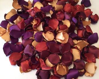 Gold Rose Petals/Burnt Orange Petals/Burgundy Petals/Aisle
