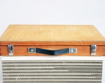 Wooden vintage suitcase