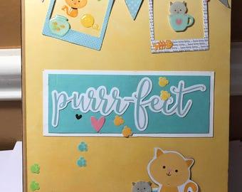 Cat scrapbook Kitten scrapbook handmade photo album gift cat lover