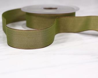 5 m tape 25mm, polyester, Khaki green, (4616)