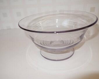 Studio art glass bowl blackberry tint