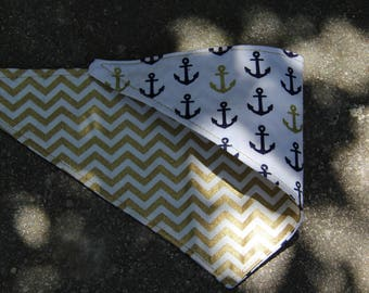 ANCHORS AWEIGH Reversible Dog Bandana