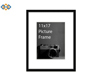 11x17 standard picture frame black