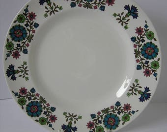 Two Midwinter Country Garden Lunch Plates Designed by Jessie Tait