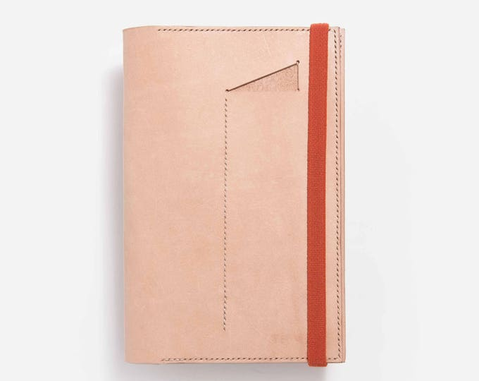 Leather Notebook Cover Moleskine with pencil compartment and elastic in different colors. Handmade. For work, design, creatives, notes