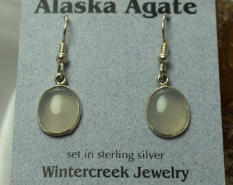 Handmade Alaska Agate Oval Earrings