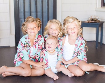 Flower Girl Robes, Bridesmaid Robes, Bridal Party, Getting Ready, Bride Robe, Plus size and Kids sizes!!