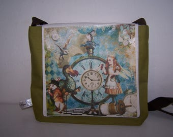 Alice in Wonderland handbag.  Alice through the Looking Glass bag.  Birthday gift for her, Christmas gift, quirky, anniversary friend gift