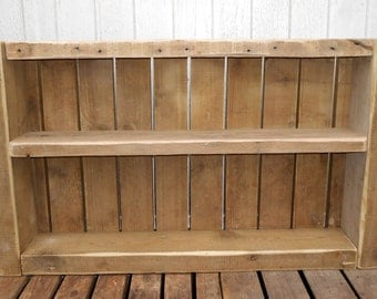 Shabby Chic Driftwood Reclaimed Wood Trinket Display Shelving Kitchen Bathroom Unit