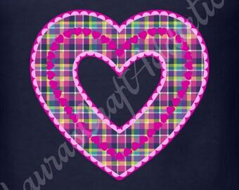 Scalloped Hearts, svg dxf pdf cut file for Silhouette Cricut, Valentine heart, Valentine svg, Valentine dxf, Valentines decor, Heart svg