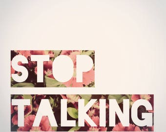 Funny - Stop Talking Card