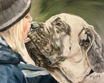 """Sarah DeYong """"Kissable"""" original 14x18 oil painting"""