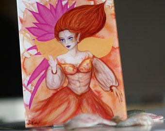 "High Quality Fairy Print ""Flower Fairy Esperanza"" (photo under acrylic glass with stand)"