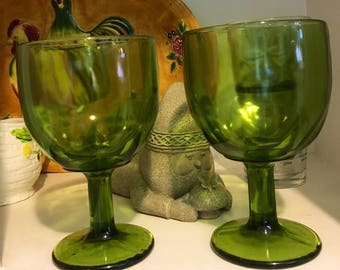 Two Green Goblets
