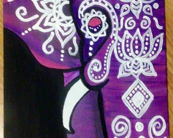 Bohemian Elephant Canvas