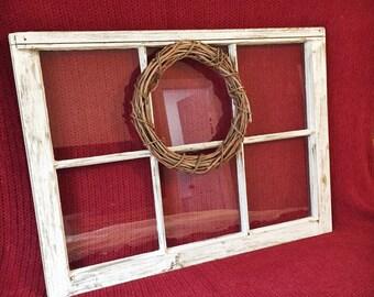 Farmhouse Window with Wreath