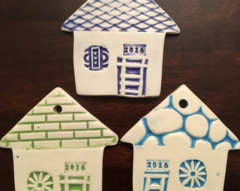 Ceramic House Ornament, House Ornament