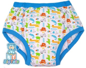 Adult Baby Jungle Animals training pants ABDL