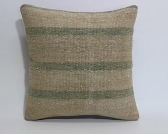 Decorative Kilim Pillow 16x16 Vintage Kilim Pillow Ethnic Pillow Throw Pillow Bed Pillow Throw Pillow Anatolian Kilim Pillow  SP4040 1609
