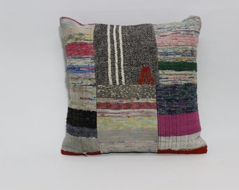 Chic Kilim Pillow Bed Pillow 20x20 Home Decor Cushion Cover Throw Pillow Bed Pillow Turkish Kilim Pillow   SP5050-1175