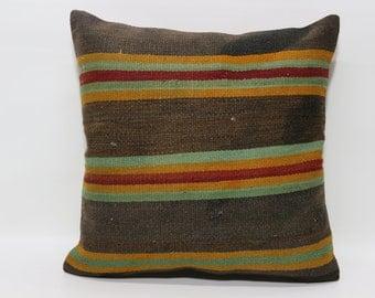 Throw Pillow Striped Kilim Pillow 24x24 Decorative Kilim Pillow Home Decor Cushion Cover Bedroom Kilim Pillow Cushion Cover SP6060-788