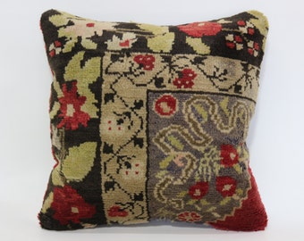 20x20 Chic Pillow Sofa Pillow Turkish Rug Pillow 20x20 Decorative Carpet Pillow Ethnic Pillow Home Decor Cushion Cover SP5050-1419