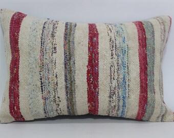 16x24 Anatolian Kilim Pillow Cotton Kilim Pillow Ethnic Pillow 16x24 Bohemian Kilim Pillow Washable Kilim Pillow Cushion Cover  SP4060-418
