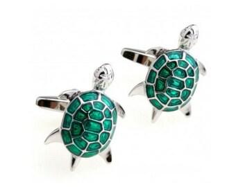 Turtle Cufflinks -B110  - Free Gift Box