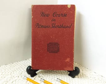 Collectible Book, Graduation Gift, Secretary Gift, Vintage New Course in Pitmans Shorthand, Centennial Edition, Vintage Book, Writers Gift