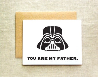 Star Wars Father's Day, Father's Day Card, Nerd Father's Day Card, Darth Vader Father's Day Card