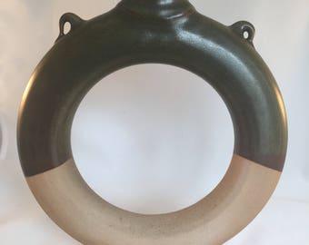 Ring Jug, Southern Folk Pottery, Reproduction, Confederate Jug, Water Jug, Ceramic, Pottery, Wood-Fired