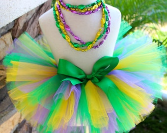 Mardi Gras Tutu, Gold Green Purple Tutu, Fat Tuesday Tutu, Girl Mardi Gras Tutu, Colorful Tutu