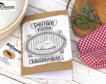 Hearty cuisine, homemade, Cooking Recipes, Retro book, Traditional dishes, Preparing hearty-meal, Gift, cook, instructions collection