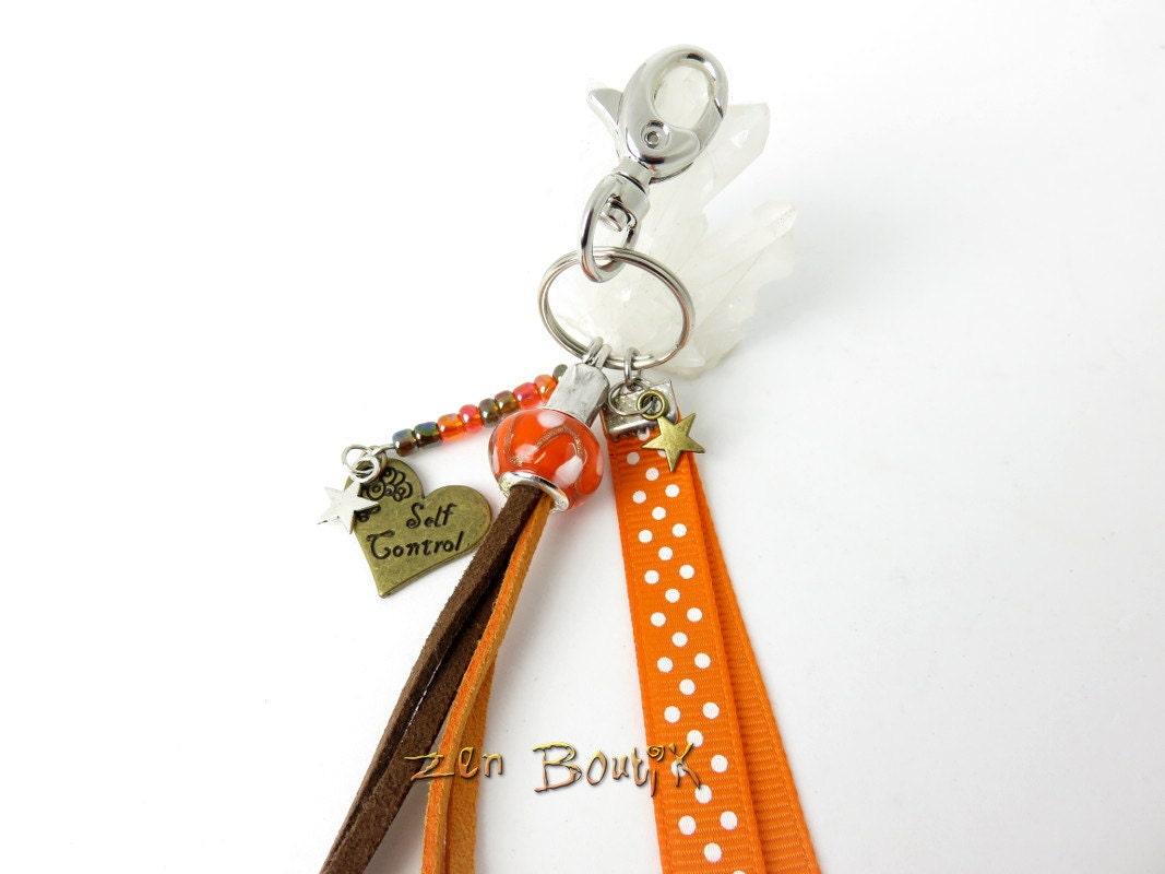 Bijou de sac porte cl s zen orange bijou sac zen id e for Porte zen fiber