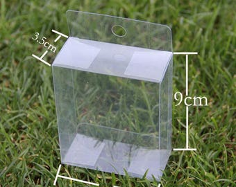 Transparent Boxes Clear Plastic Boxes With Handle For Party Favors 12pcs
